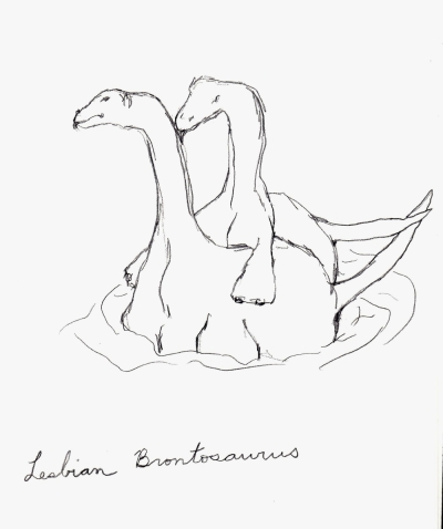 Lesbian Brontosaurus by Colleen Hennessey